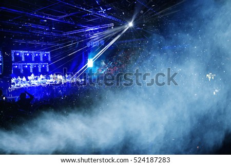 blurred background light lights people rock concert nights