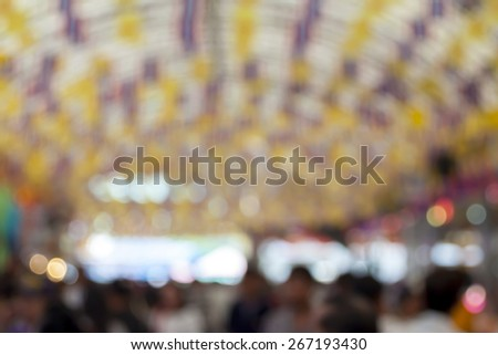 Blurred background : market fair,fair background with bokeh - stock photo