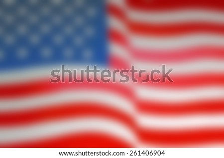 Blurred Background of a painted United States of America Flag  - stock photo