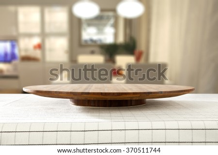 blurred background of home interior with chairs and board place
