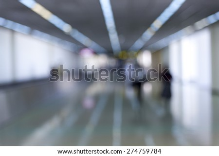 Blurred background of People in Blurred Motion Walking.  - stock photo
