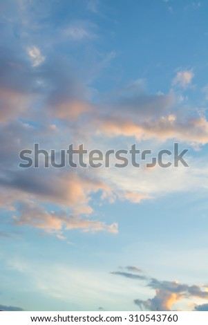 Blurred background of Sunset Sky