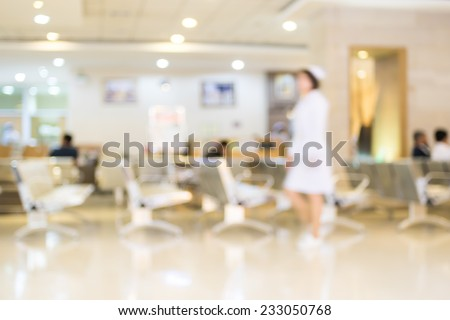 Blurred background : Patient waiting for see doctor,abstract background - stock photo