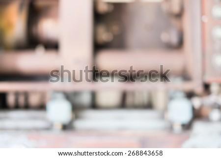 Blurred background : plastic machine blur background,Industry background. - stock photo