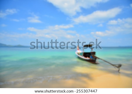 Blurred Background: Summer Beach on Paradise Island