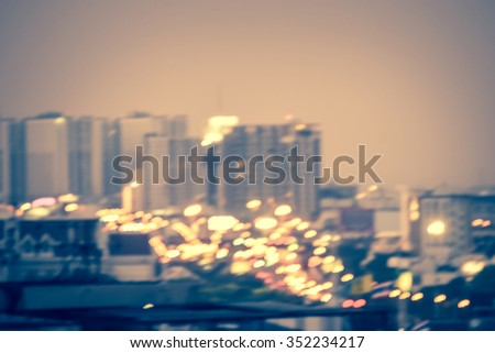 blurred background - traffic lights in city