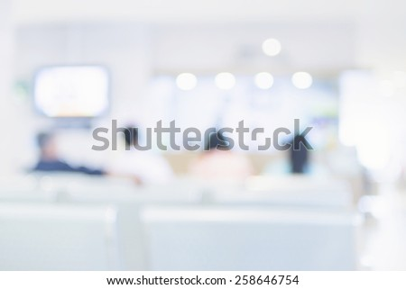 Blurred background : Vintage filter patient waiting for see doctor - stock photo