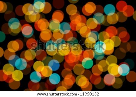 Blurred background with colored circles