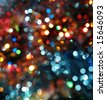 blurred background with colorful bright decoration lights - stock photo
