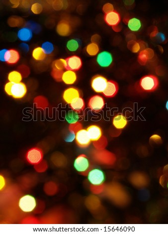 blurred background with colorful bright decoration lights