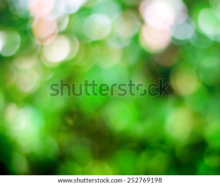 Blurred background with natural green bright. - stock photo