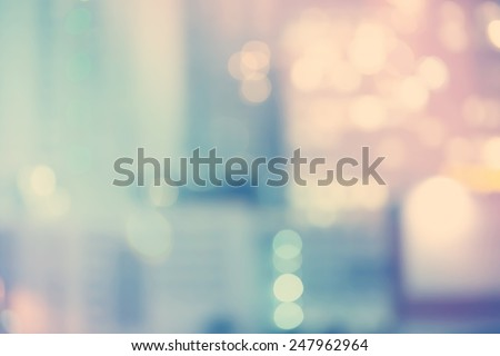 Blurred blue and pink urban building background scene  - stock photo