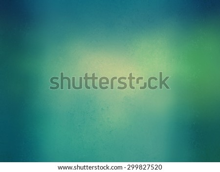 blurred blue sky background with vintage style filter effects, yellowed white bokeh lights blurred into blue green background color with dark border, abstract blurry background - stock photo