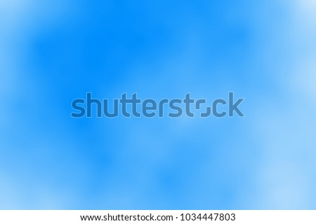 Blurred blue sky with clouds, abstract  background