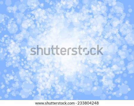 Blurred blue sparkles, Christmas backgrounnd - stock photo