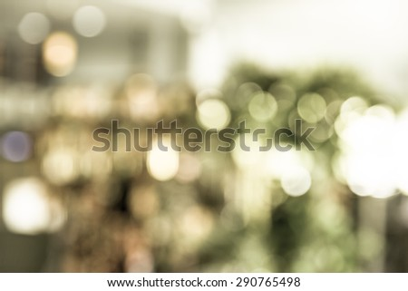 blurred bokeh, vintage style, christmas background - stock photo