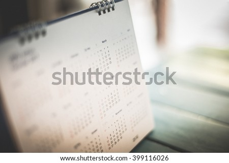 Blurred calendar page dark tone