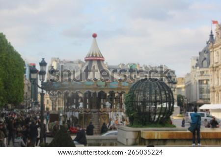 blurred carousel - stock photo