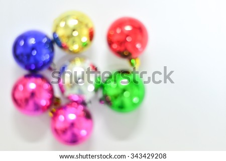 Blurred Christmas baubles