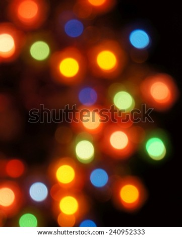 Blurred christmas lights background, defocused light