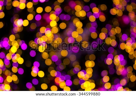 Blurred Christmas tree on background - stock photo
