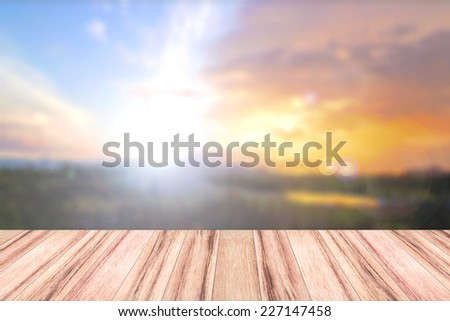 Blurred colorful sunset background. International Mountain Day concept.