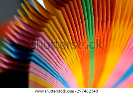 Blurred colourful Paper on background. Abstract  colour background