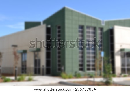 Blurred Commercial Office Building - stock photo