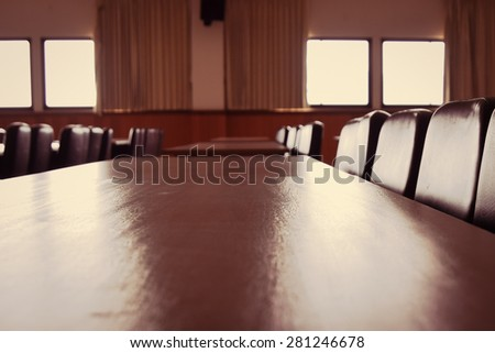 Blurred conference room  for background - stock photo