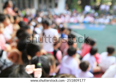 Blurred crowd of student in school