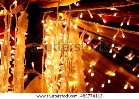 Blurred decorated lights for elegant party