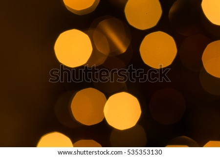 Blurred defocused holiday christmas lights