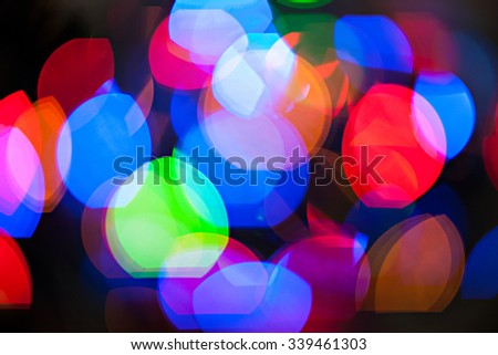 Blurred defocused multi color lights for your design, abstract texture.
