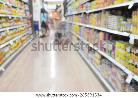 blurred department store background, shopping - stock photo