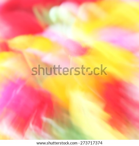 Blurred flowers background. Natural motion blurred buttercup flowers. Spring or summer flower abstract background  - stock photo