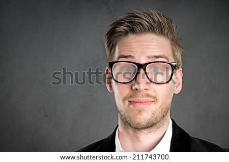 Blurred Glasses - stock photo
