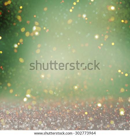 Blurred glitter  lights background - stock photo