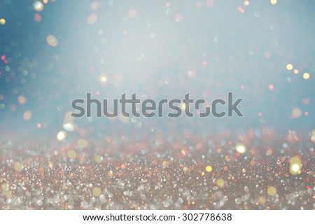 Blurred glitter  lights background - stock photo