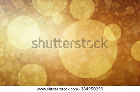 blurred gold bokeh lights on brown background in faded soft vintage style - stock photo
