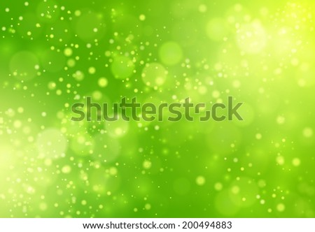 Blurred green abstract background with bokeh effect.. Raster copy illustration.