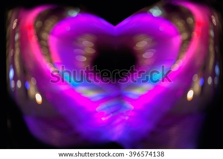 Blurred heart sweet bright background,abstract love. - stock photo