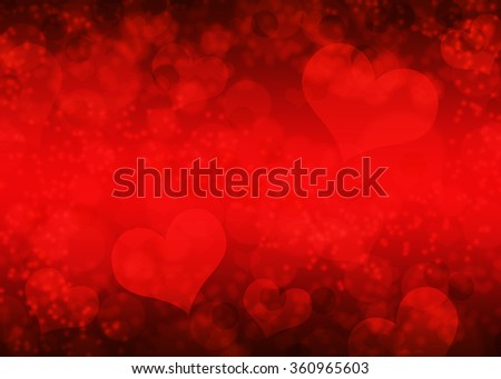 Blurred hearts bokeh background / texture