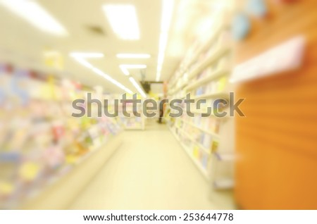 blurred image background with bookstore - stock photo
