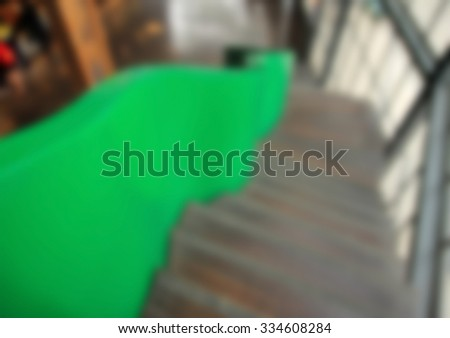 blurred image details of railing and stairs of a modern building - stock photo