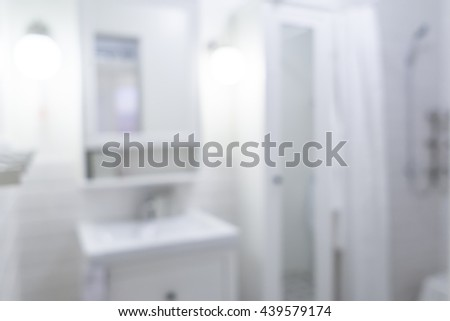 Blurred image of bathroom and toilet for backgrounds uses