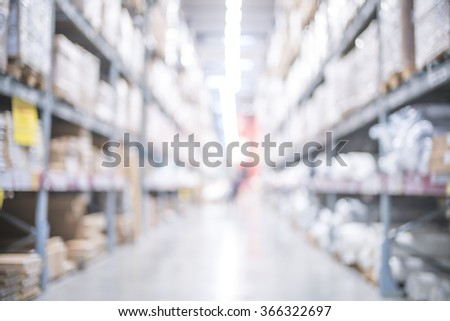 Blurred image of big retail store for background uses