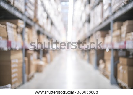 Blurred image of big retail store for background uses - stock photo