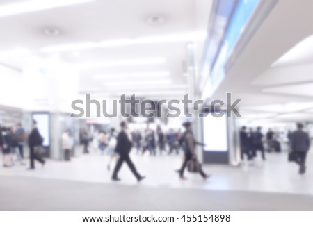 Blurred image of business people traveling. use for brochure cover web design template background