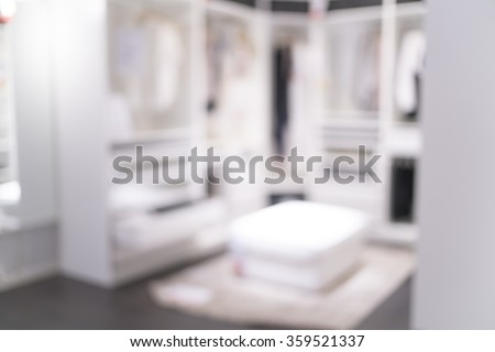 Blurred image of closet room for background uses.