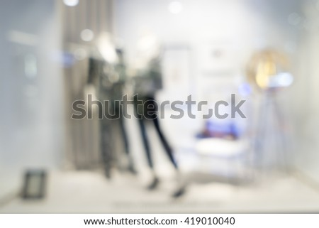 Blurred image of clothes shop for background uses.